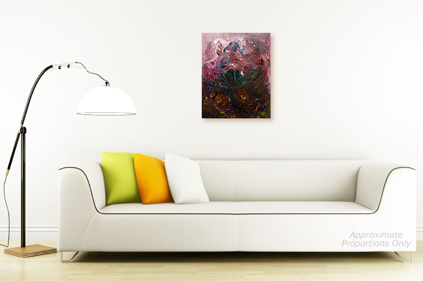 ORIGINAL ABSTRACT ACRYLIC PAINTINGS by Milen - 15112010